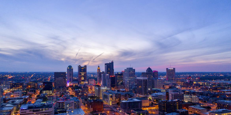 Columbus Skyline at sunset