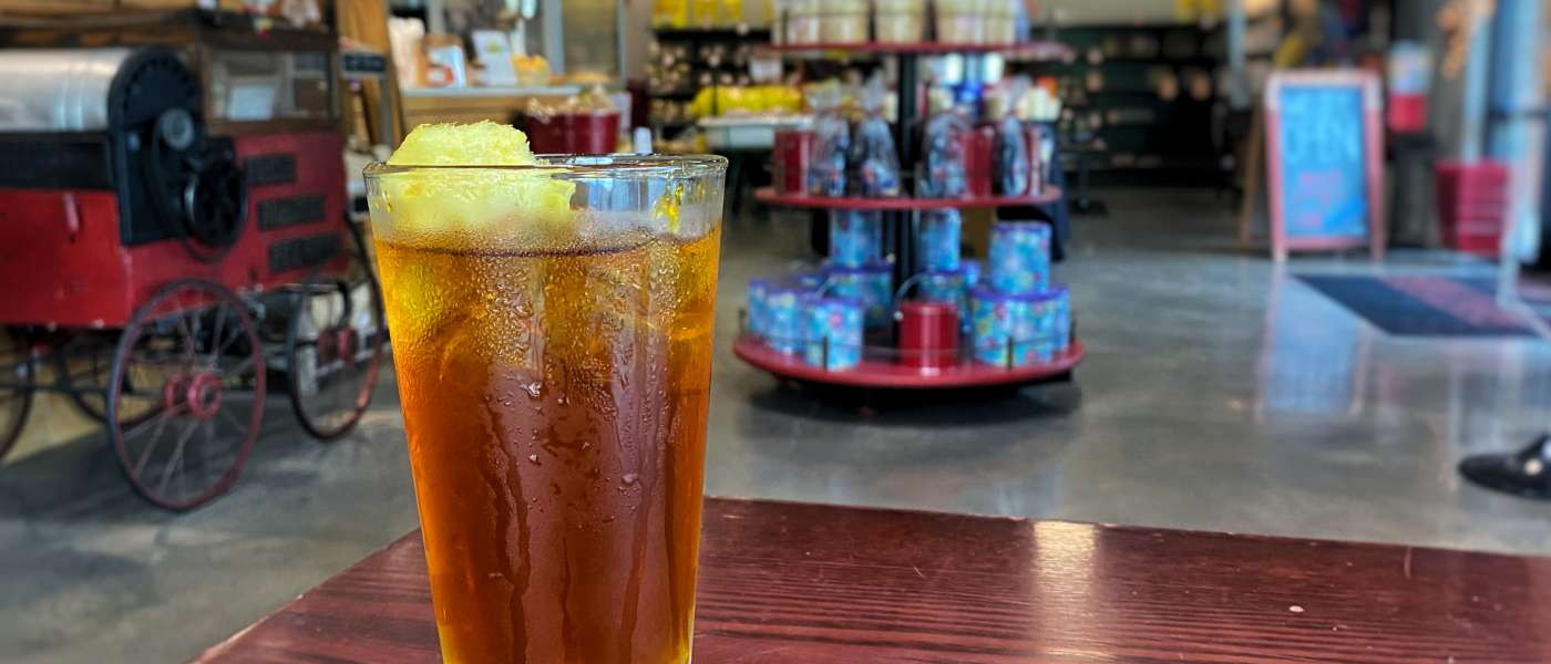Cromer's Iced tea with lemon cotton candy