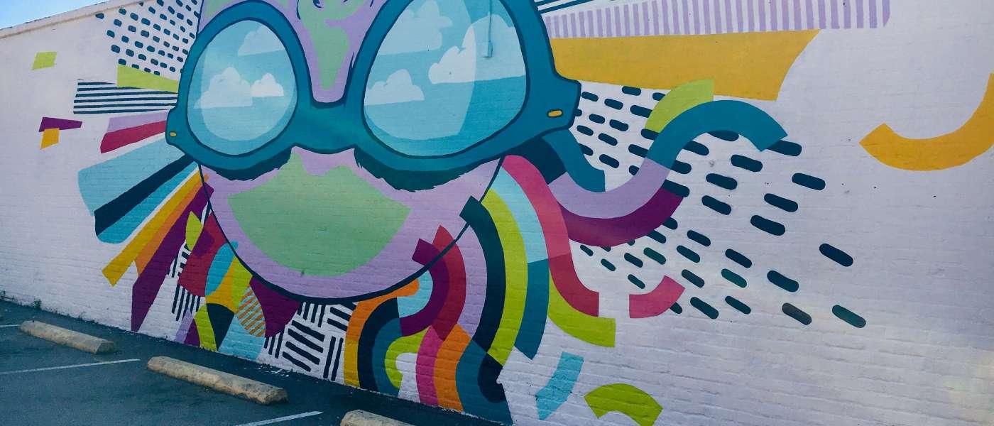 Cait Maloney Mural in the Vista Neighborhood of Columbia SC