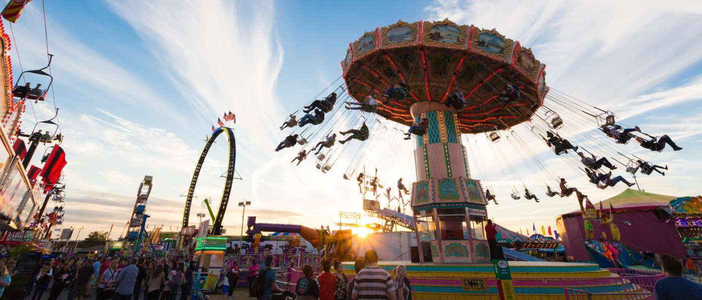Rides at the state fair