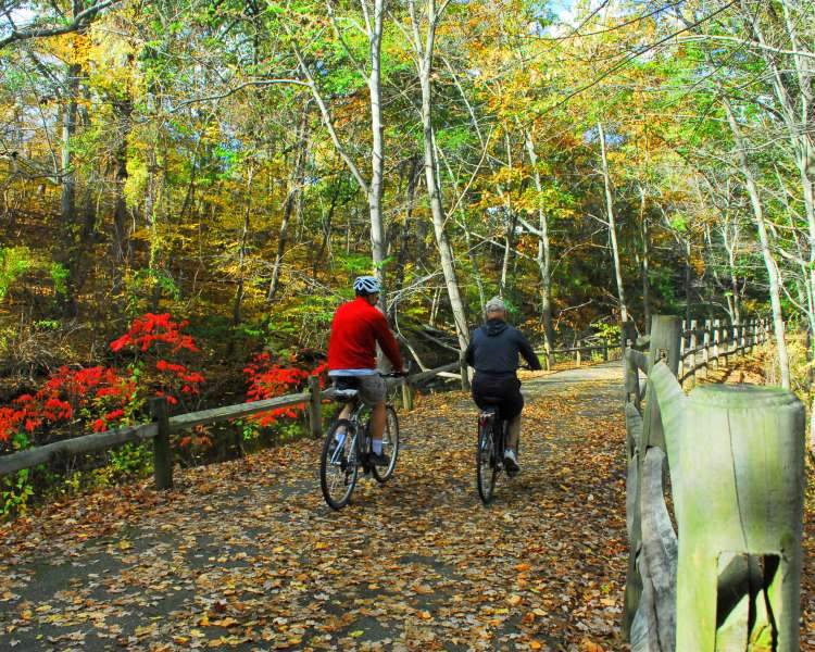 The state's second-longest bike path; runs from Cumberland to Woonsocket.