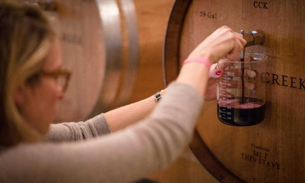 Conn Creek Barrel Wine Blending