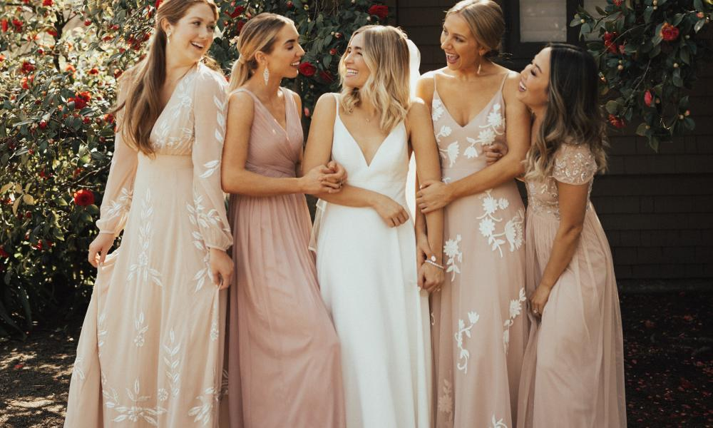BHLDN in Napa Valley Bridal Party Wedding
