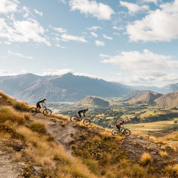 Pack Sack and Track mountain bike trail