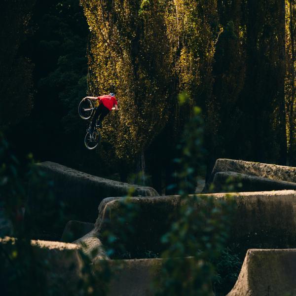 Rider at Gorge Road Jump Park