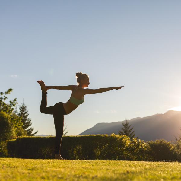 Practising yoga outside