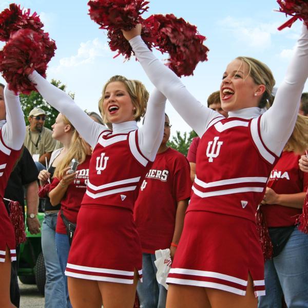 Cheerleaders At IU Homecoming In Bloomington, IN