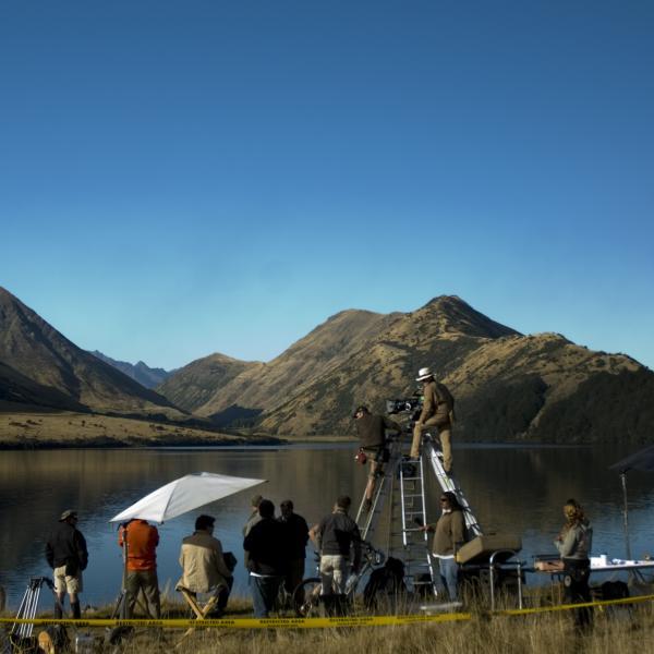 Filming at Moke Lake - Queenstown