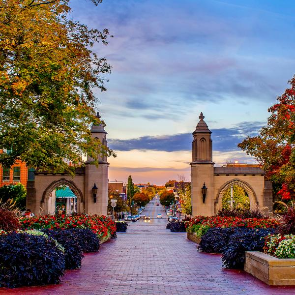 View of the Sample Gates at the Indiana University in Bloomington, IN