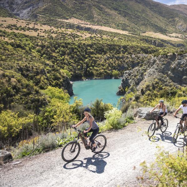 Biking the Gibbston River Trail