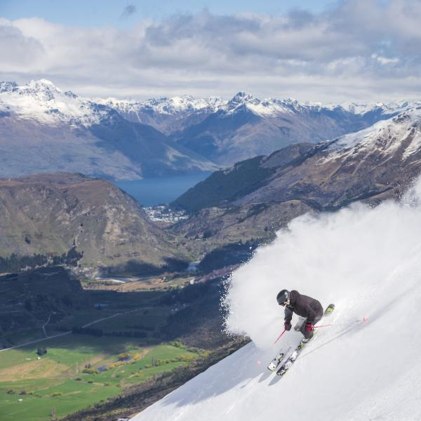 Skier at Coronet Peak