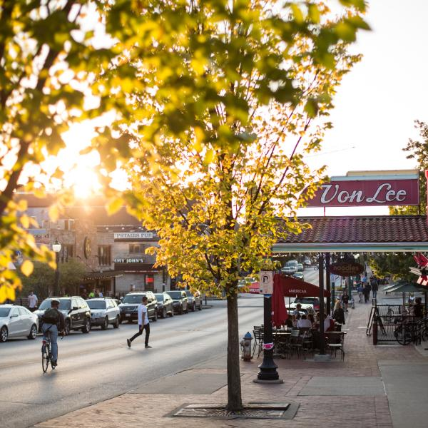 Street of Downtown Bloomington, Indiana