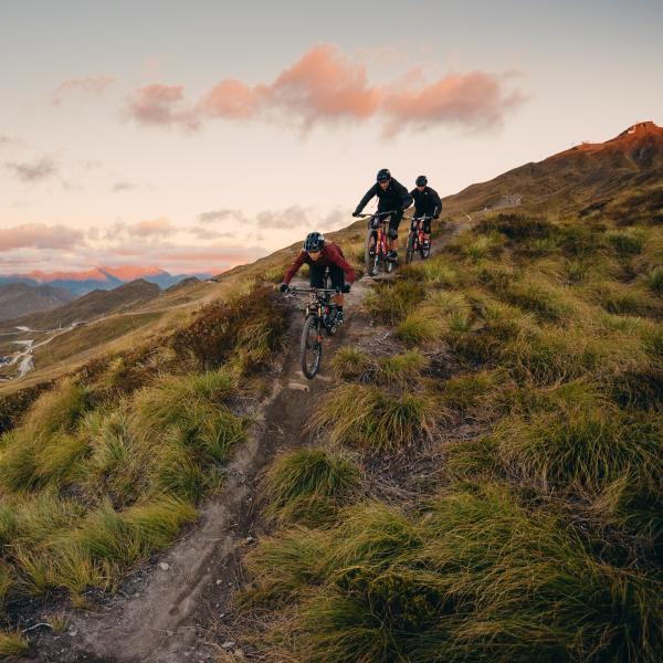 Kate Fluker, Conor Macfarlane and Sam Robbie, Coronet Peak
