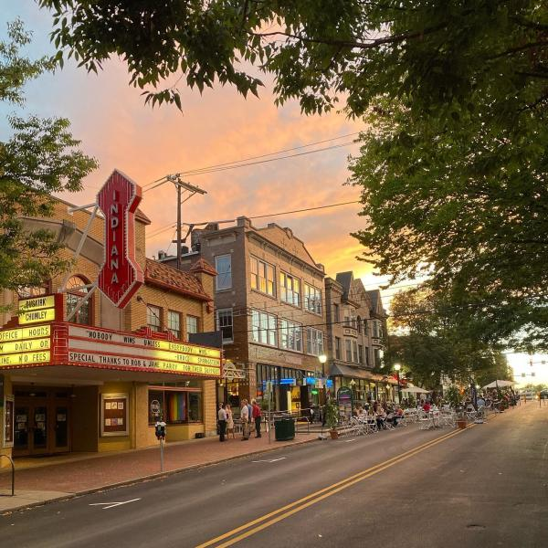 Kirkwood Avenue during sunset