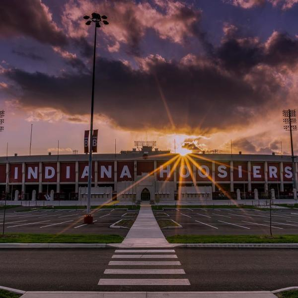 Entrance to the Memorial Stadium Indiana Hoosiers