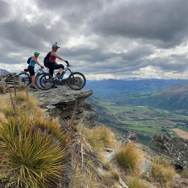 E-Biking Mt Rosa with HeliBike NZ