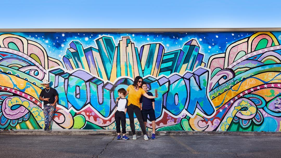 Houston Skyline GONZO247 Mural