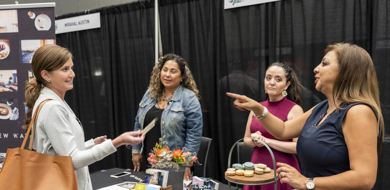 Networking at Visit Austin Tourism and Hospitality Career Fair