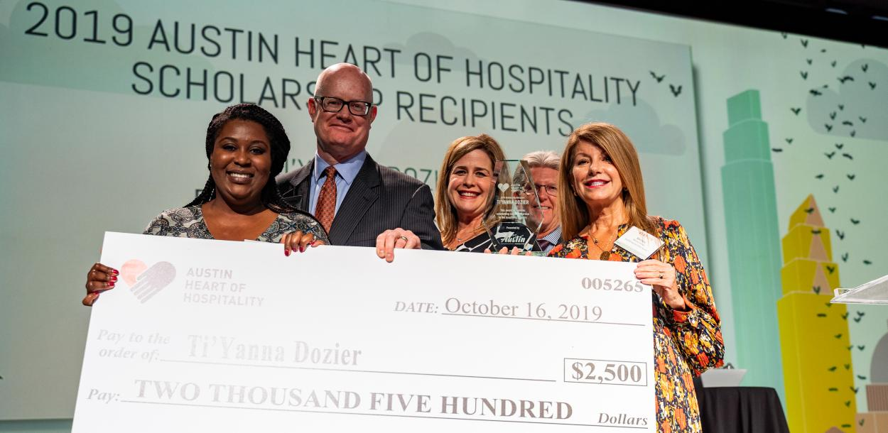 Visit Austin Foundation Heart of Hospitality Scholarship at the Visit Austin Annual Meeting