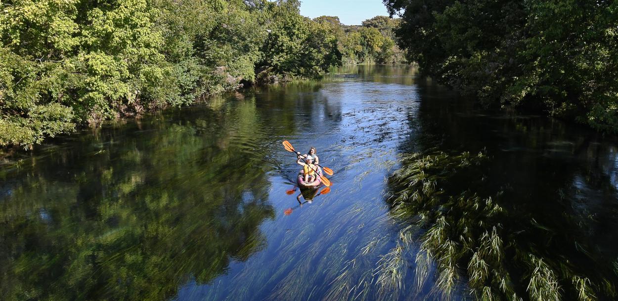 Kayaking the San Marcos River in San Marcos texas