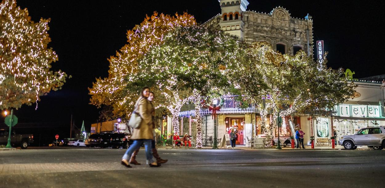 Holiday Lights on the Square in Georgetown Texas