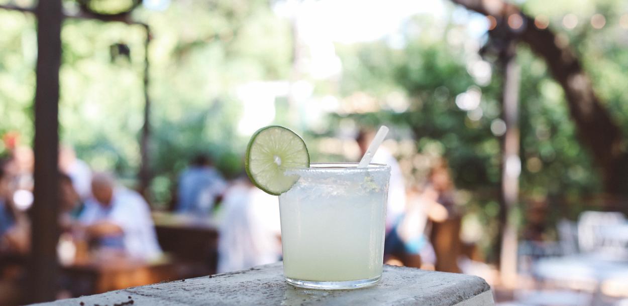 House Margarita on the patio at Fresas in Austin Texas