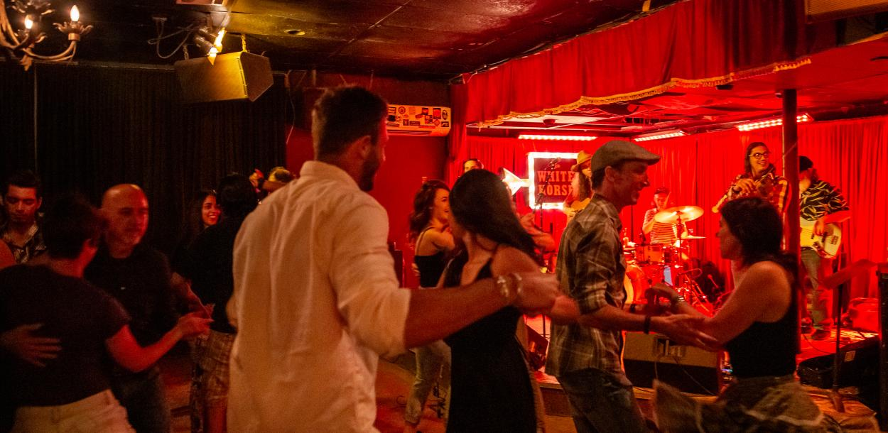 couples dancing at the White Horse in austin texas