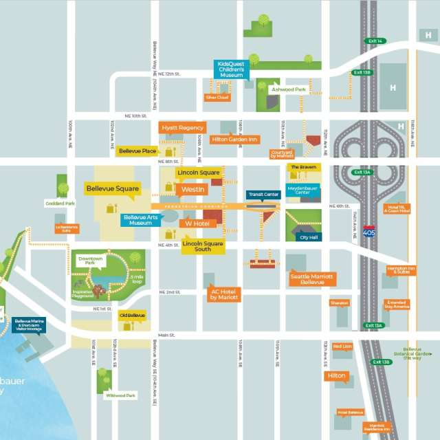 Downtown Bellevue Map