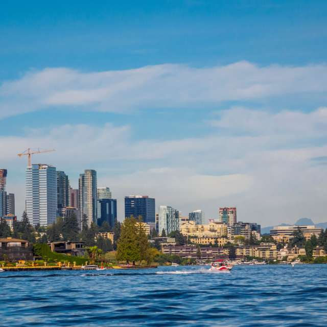 Lake Washington + Bellevue Skyline