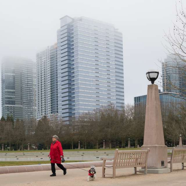 Bellevue Downtown Park Cloudy