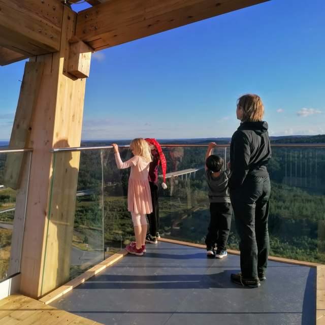 OVER utsikt fra klatretårnet i Lillesand