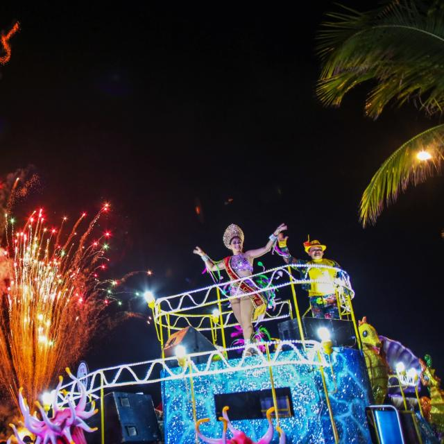 Fireworks and Parade Float