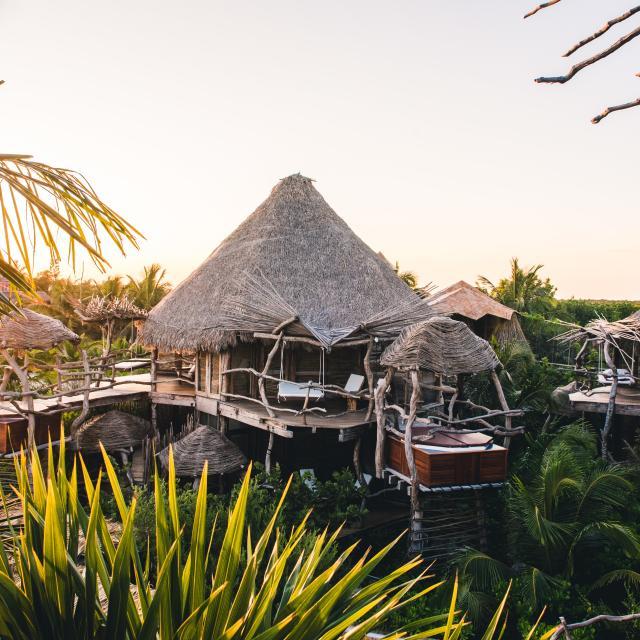 Resort Huts with Hot Tubs