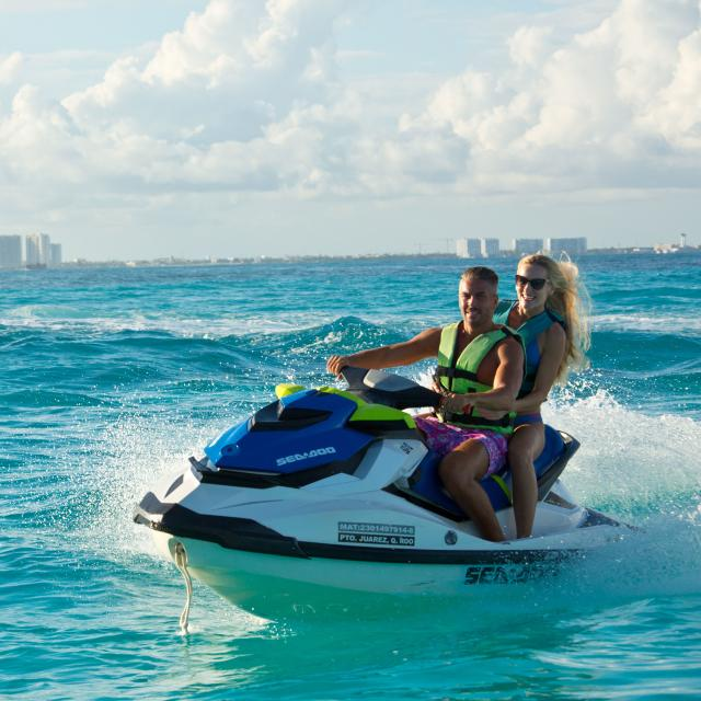 Couple on Jetski