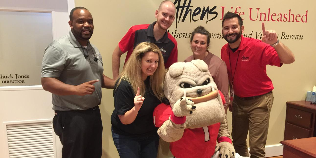 Hairy Dawg Visits Athens CVB