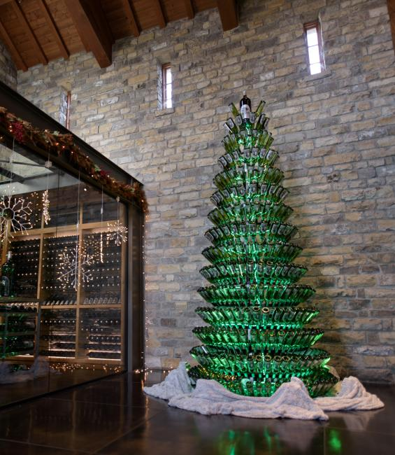 Christmas Wine Tree at Silver Oak Cellars