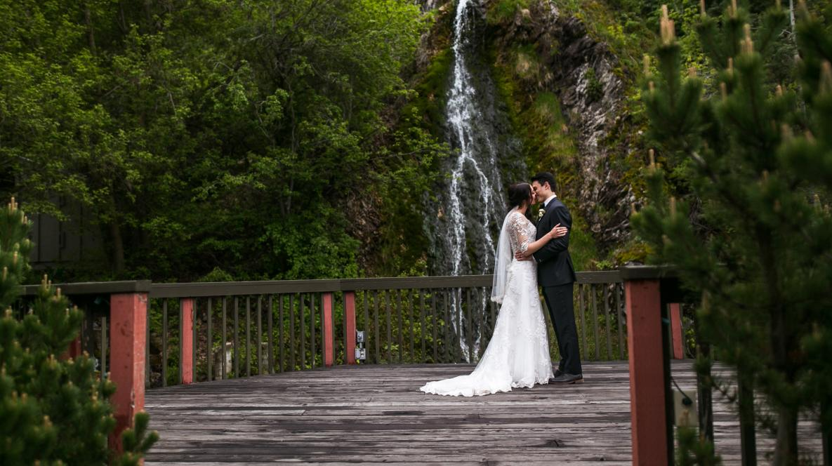 Waterfall Wedding at Log Haven