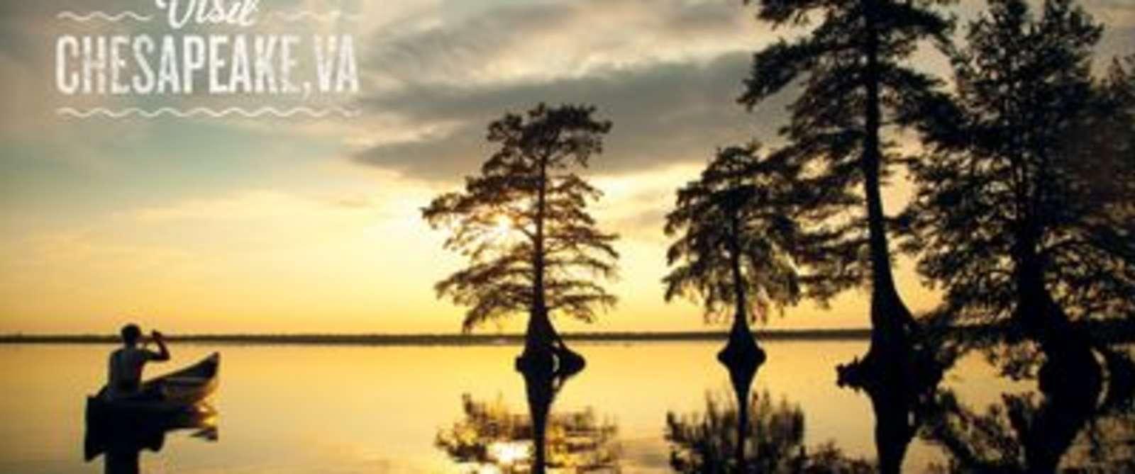 Zoom Image Sunset at Lake Drummond