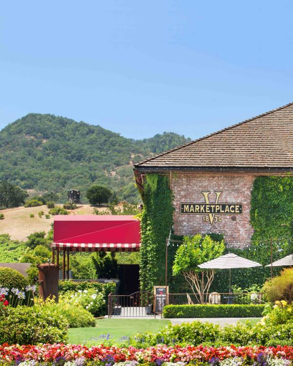 Exterior of The Shops at The Marketplace in Yountville, Napa Valley