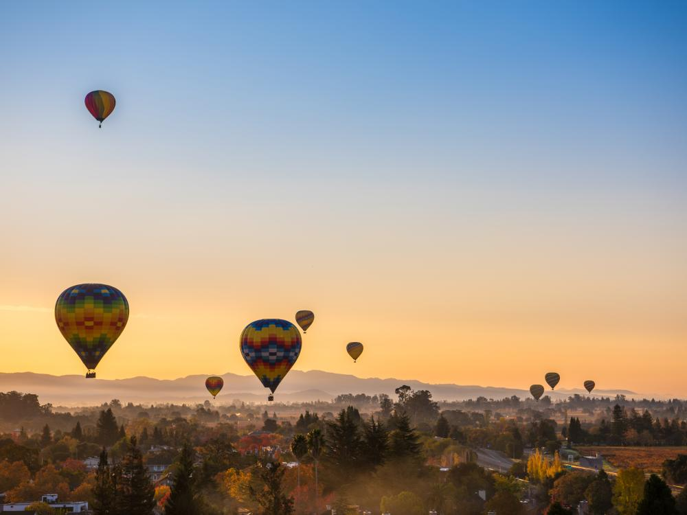 Fall Sunrise Hot Air Balloons