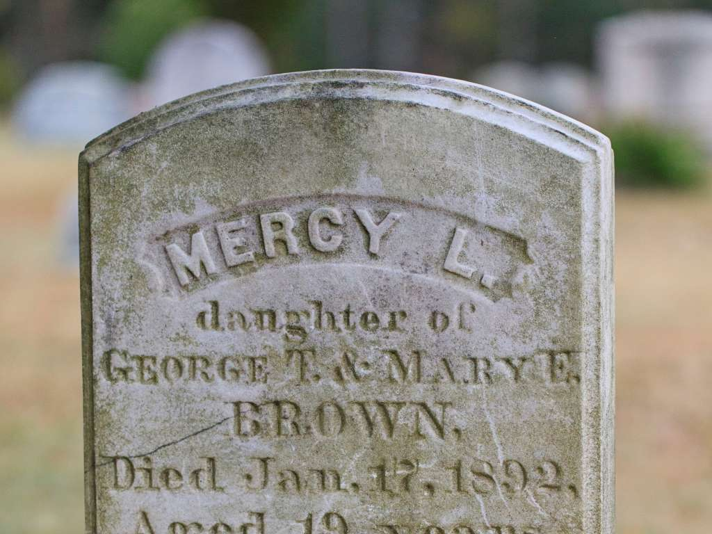 Mercy Brown Grave-Exeter