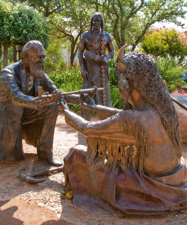 Peace Statue of Treaty between Indians & German Settlers in Fredericksburg, TX