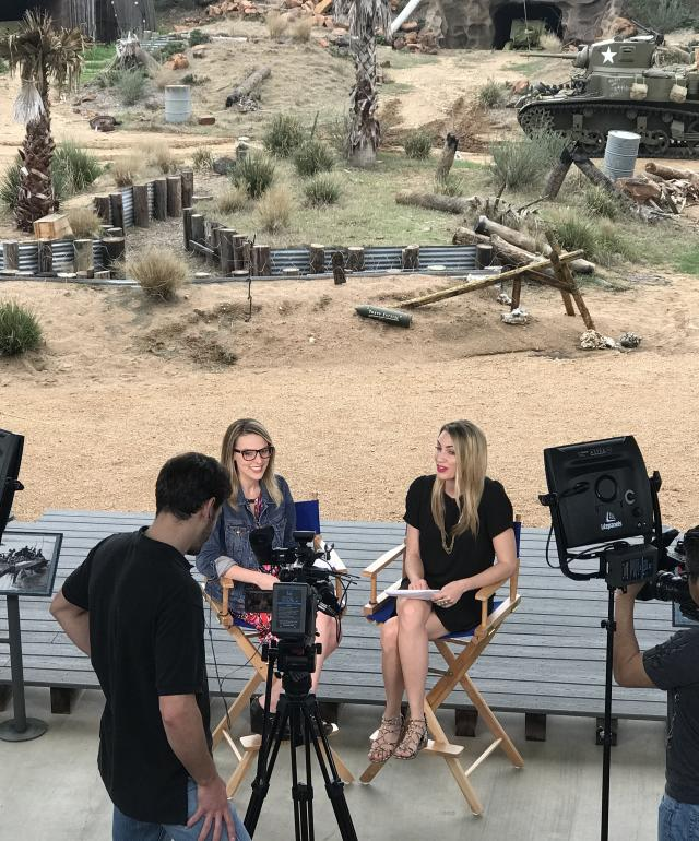 Media Interview at National Museum of the Pacific War