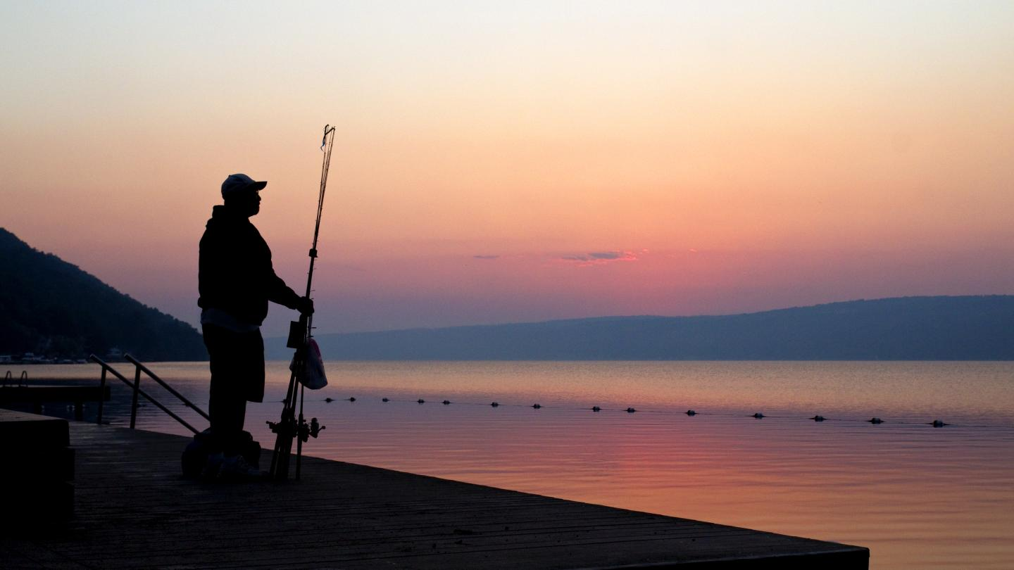 Dawn Fishing Keuka Lake