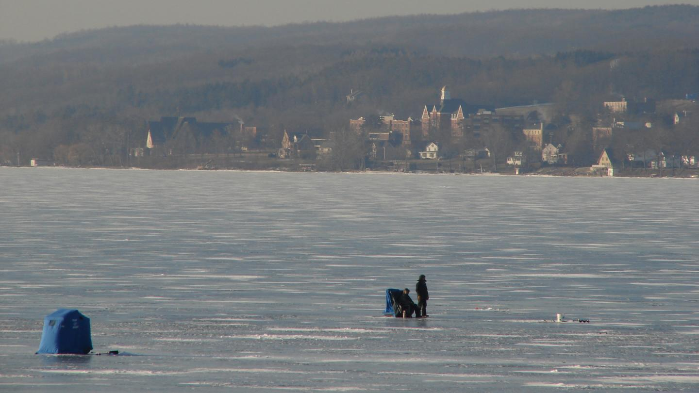 Ice Fishing on Keuka Lake