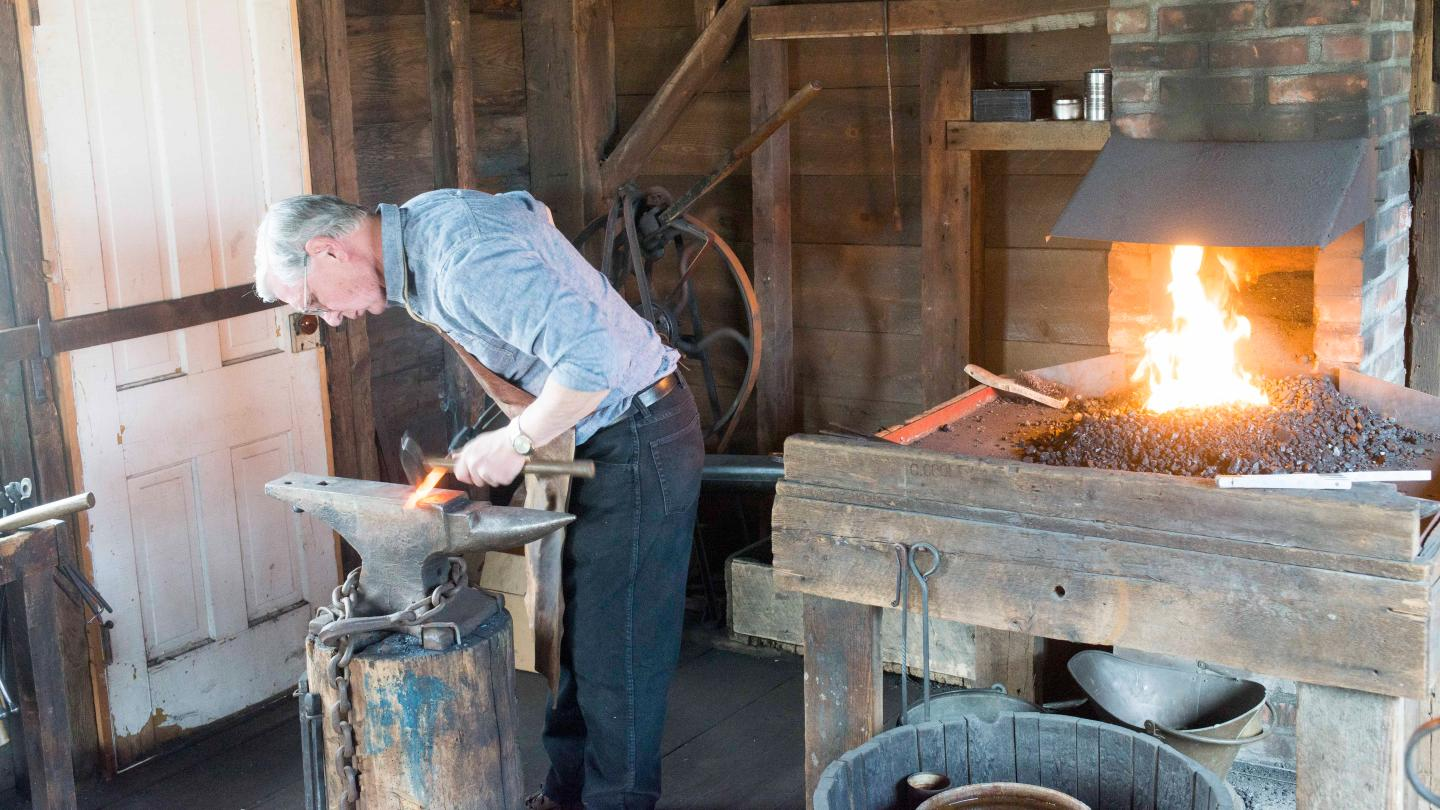 Blacksmithing at Heritage Village