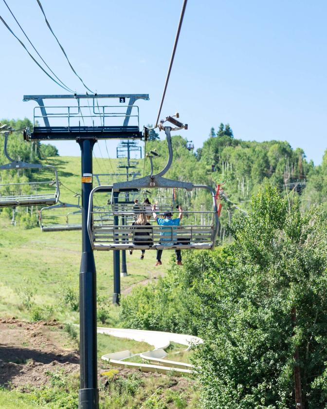 Chairlift Ride at Park City Mountain