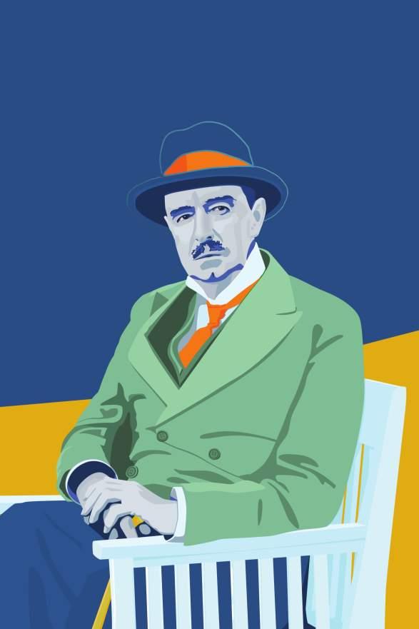 Vilhelm Krag 150 års jubileumskunst laget av Vidar Lien