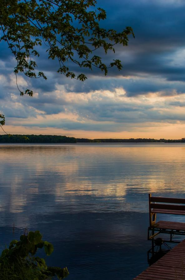 In the Stevens Point Area, you can't overlook the Wisconsin River as it winds through the region creating perfect sunset views.