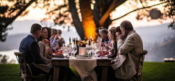 Group Outdoor Dining in Napa Valley